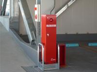 駐車場内移動式粉末消火器