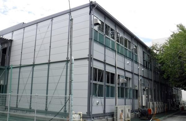 仮設校舎の電気設備工事